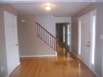 View of main level hardwood floors.