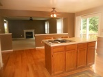 Kitchen with hardwood floors.