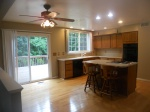Kitchen with walk-out to rear deck.