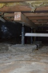 Structural repair for sagging floor joists