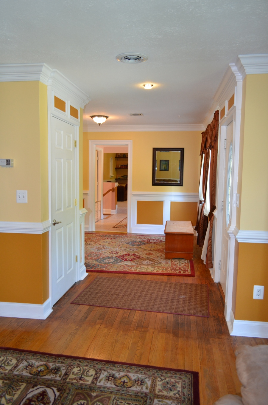 Entry foyer and family room.