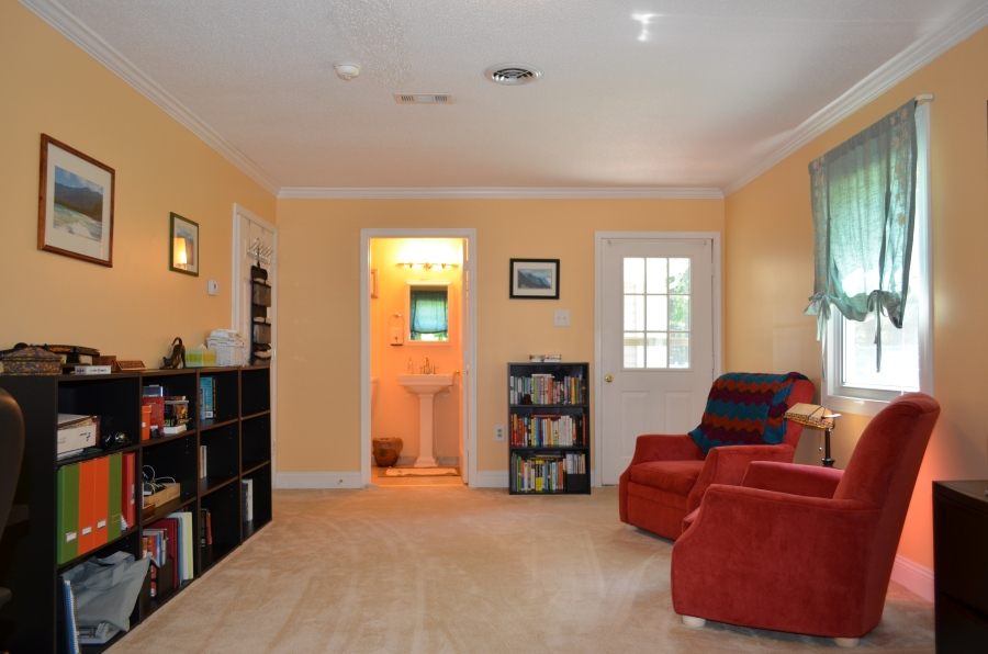 In-Law Suite includes a full bathroom (left), and separate entry (right).