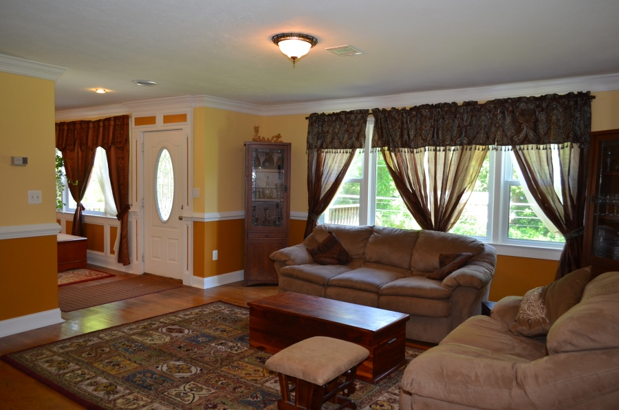Living room and entry foyer