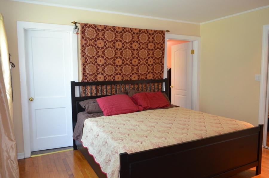 Master bedroom (walk-in closet on left, master bathroom on right).