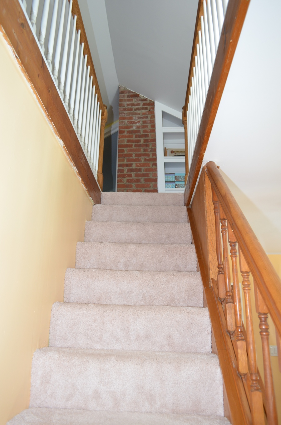 Stairway to second level teen suite.