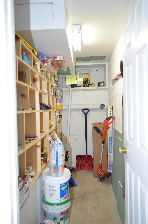 Basement storage room.