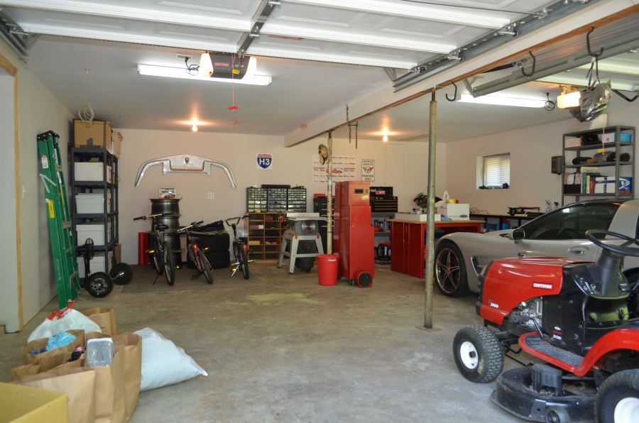 2 car garage (insulated and finished) with automatic garage doors and openers.