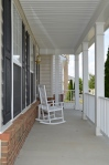 Front porch of 5500 Silver Maple Lane Fredericksburg, Virginia