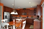 Gourmet kitchen at 5500 Silver Maple Lane Fredericksburg, Virginia 22407