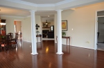 Living room and main level foyer at 5500 Silver Maple Lane Fredericksburg, Virginia