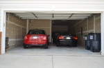 The front entry garage of 5500 Silver Maple Lane Fredericksburg, Virginia.