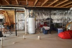Unfinished basement at 5500 Silver Maple Lane in Fredericksburg, Virginia