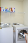 Laundry room located on the second floor at 5500 Silver Maple Lane Fredericksburg, Virginia