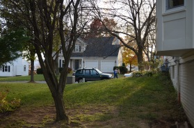 Side yard at Hampton Oaks Subdivision 11 Arbor Lane Stafford, VA. 22554