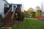 Back yard at Hampton Oaks Subdivision 11 Arbor Lane Stafford, VA. 22554