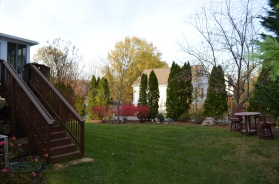Back yard at Hampton Oaks Subdivision 11 Arbor Lane Stafford, VA. 22554