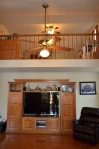 Second level study overlooking the main level family room in Hampton Oaks Subdivision 11 Arbor Lane Stafford, VA. 22554