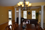 Dining area & living room of 9012 Laurel Oak Lane Fredericksburg, VA 22407