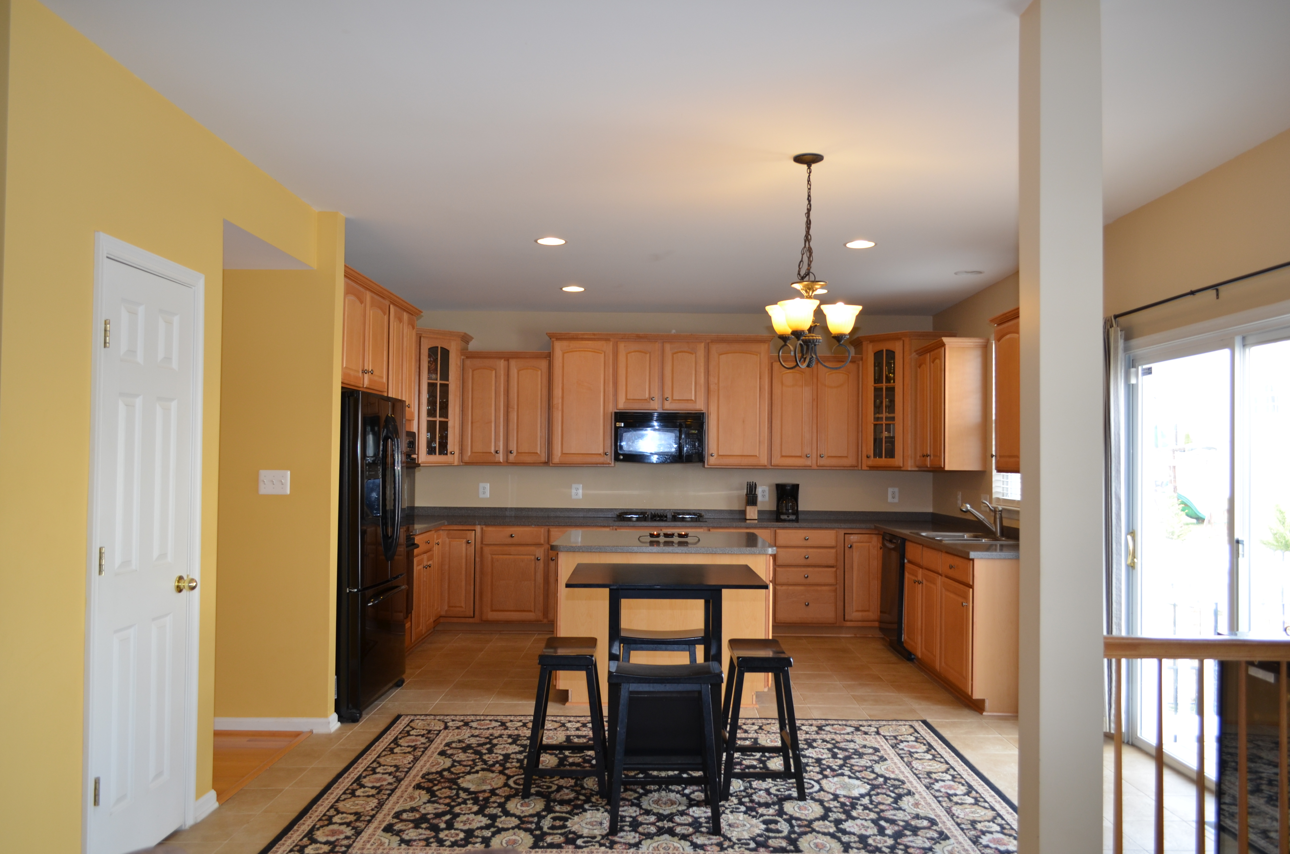 Kitchen with maple cabinets amp upgraded appliances in 9012 laurel oak