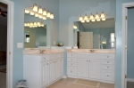 Double vanities in the master bathroom in 9012 Laurel Oak Lane Fredericksburg, Virginia 22407-9356