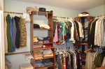 Walk-in closet in the master bedroom in 9012 Laurel Oak Lane Fredericksburg, Virginia 22407-9356