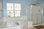 Soaking bathtub & shower in the master bathroom in 9012 Laurel Oak Lane Fredericksburg, Virginia 22407-9356