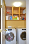 The laundry room is located on the bedroom level (second floor) in 9012 Laurel Oak Lane Fredericksburg, Virginia 22407-9356