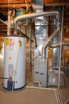 Natural gas furnace & 75 gallon hot water heater in 9012 Laurel Oak Lane Fredericksburg, Virginia 22407-9356