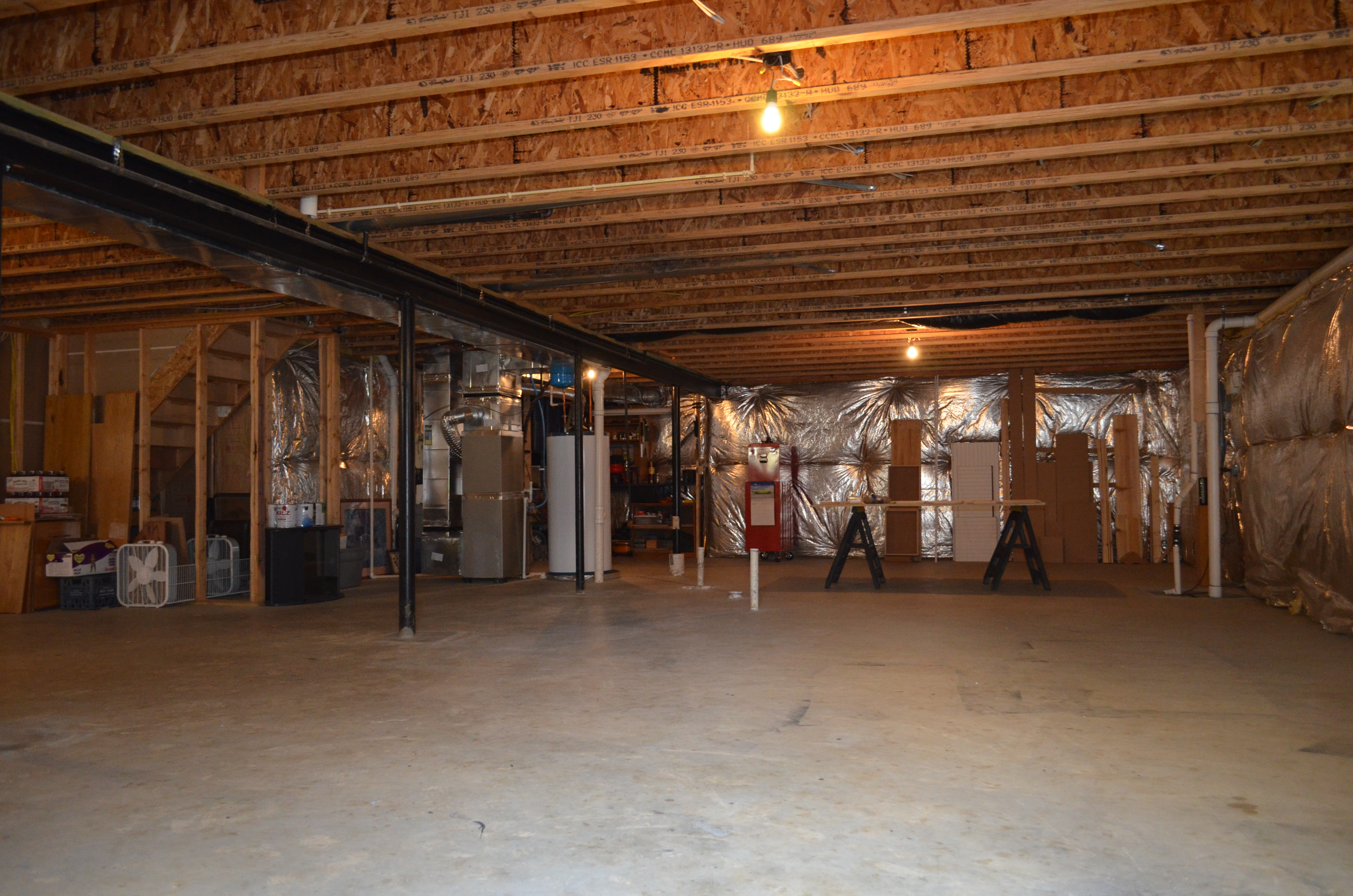 Unfinished Basement Walls Viewing Gallery