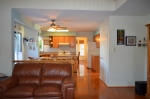 View of the kitchen from the family room in Hampton Oaks Subdivision 11 Arbor Lane Stafford, VA. 22554