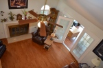 View of the family room from the second level study in Hampton Oaks Subdivision 11 Arbor Lane Stafford, VA. 22554