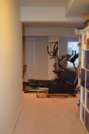 Basement hallway into recreation room at Hampton Oaks Subdivision 11 Arbor Lane Stafford, VA. 22554