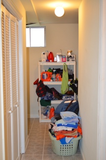Furnace room and laundry area in Hampton Oaks Subdivision 11 Arbor Lane Stafford, VA. 22554
