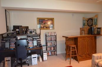 Basement recreation room in Hampton Oaks Subdivision 11 Arbor Lane Stafford, VA. 22554
